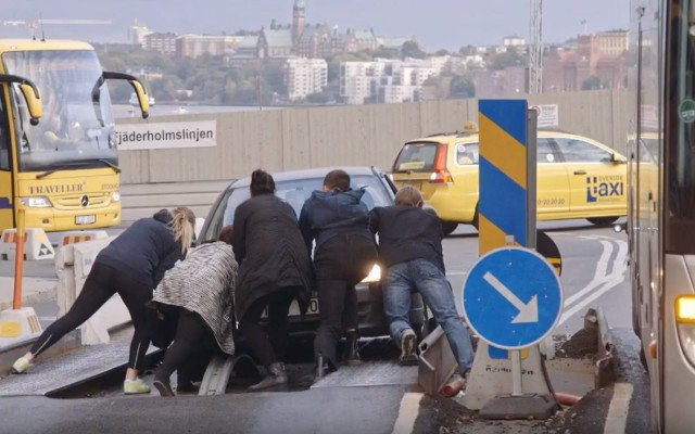 Watch: Slapstick chaos of Stockholm junction captured in new documentary
