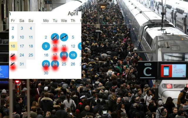 UPDATED: The days to avoid train and plane travel in France this April
