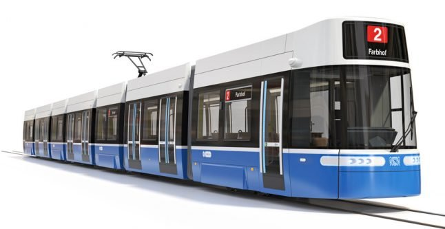 Zurich unveils new trams (using cool life-size model made entirely of wood)