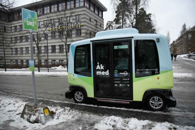 Self-driving test buses in Sweden to go faster