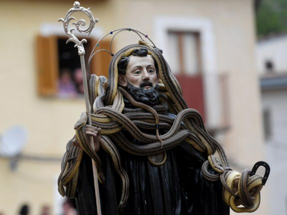 IN PICTURES: Italy's annual snake festival
