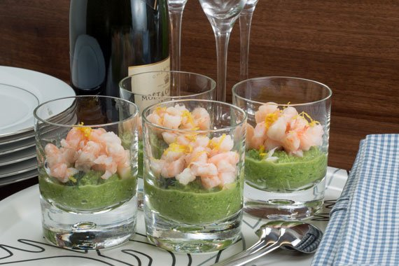 Swedish recipe: How to make asparagus mousse with prawns and dill