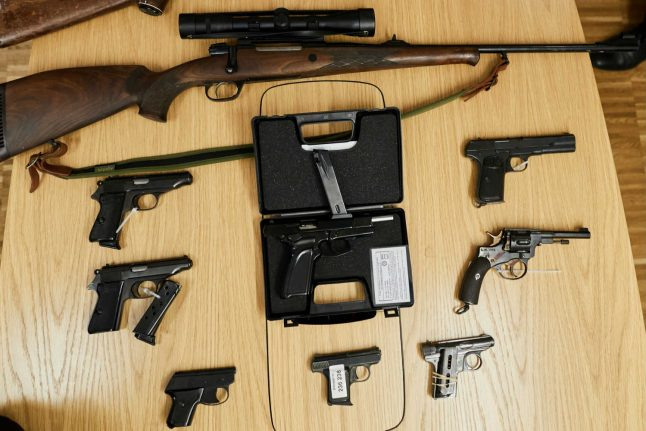 12,000 weapons were handed in during Swedish amnesty: police