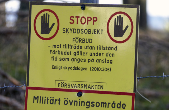 Foreign citizens arrested for trespassing in Swedish military area
