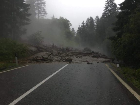 Hailstones, thunderstorms and flash floods in northern Italy