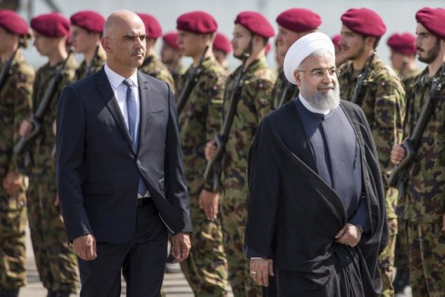 Iranian president makes official visit to Switzerland