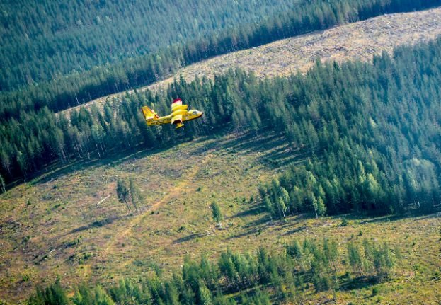 EU countries send aircraft to Sweden to help fight wildfires