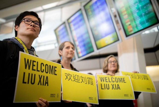 After years of house arrest, widow of Chinese Nobel dissident arrives in Berlin