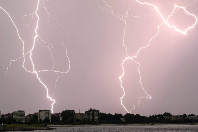 Tropical nights and lightning storms thunder through Sweden