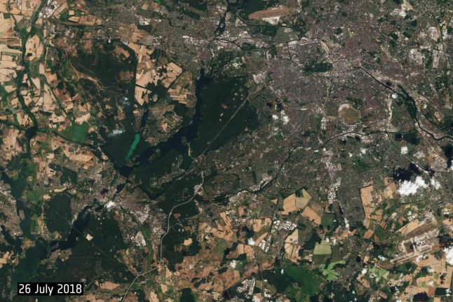 Incredible satellite images show damaging effects of heatwave