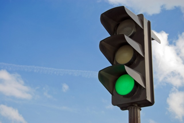 Driver fined for failing to go on green light