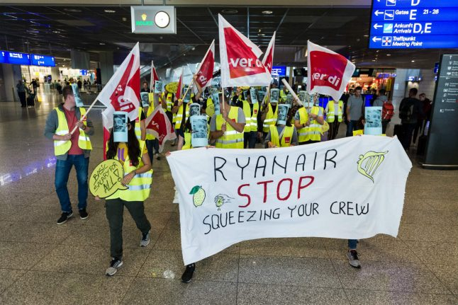 Update: Ryanair pilots and cabin crew stage walkout in Germany as disruption sparked