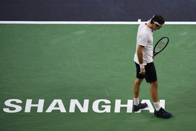 Federer admits lacking 'punch' after Shanghai defeat
