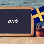 Swedish word of the day: ont