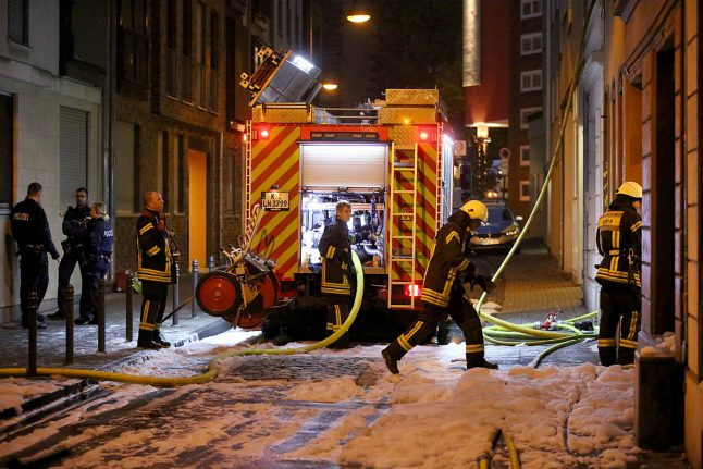 Two die as fire rips through central Cologne town house