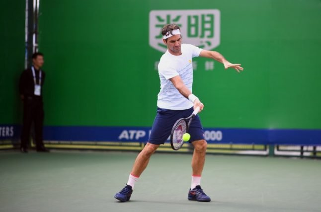 Swiss tennis star Federer warns rivals he is ready for Shanghai Masters title defence