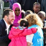 Salvini meets rescued migrants, promises 'welcome' in Italy
