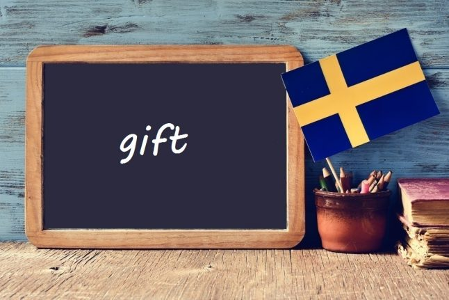 Swedish word of the day: gift