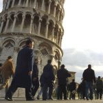 The Leaning Tower of Pisa is slowly losing its lean