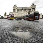 Central Rome at a standstill as tourist buses protest ban