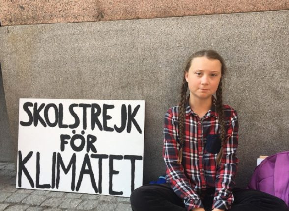 Swedish teen named one of world's most influential after climate campaign