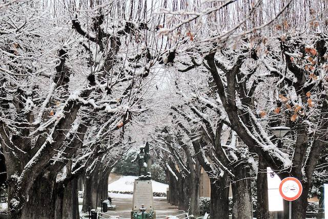 IN PICTURES: First snow of the winter falls on central Italy