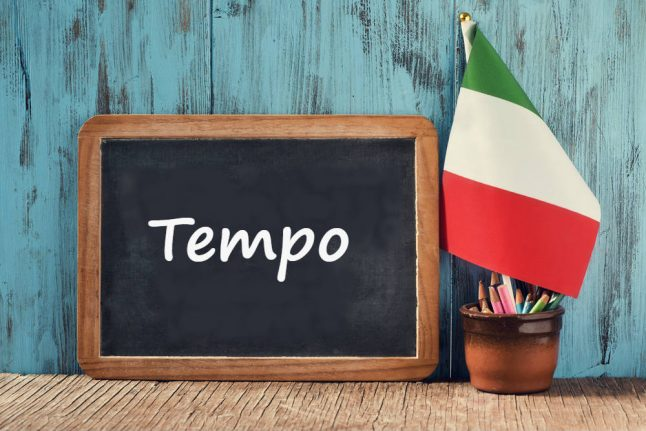 Italian word of the day: 'Tempo'