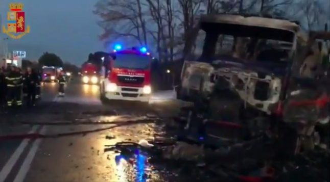 Two dead, several injured in petrol station explosion near Rome