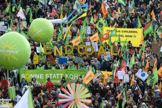 Thousands march in Germany calling for end to coal power