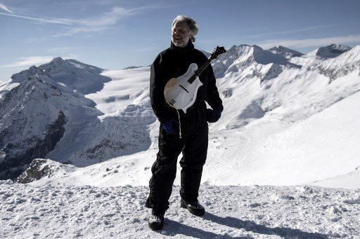 The American making 'ice music' in the Italian Alps