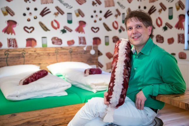 World's Wurst hotel? Sausages and 'tasteful' decor on the menu at Bavarian hideaway