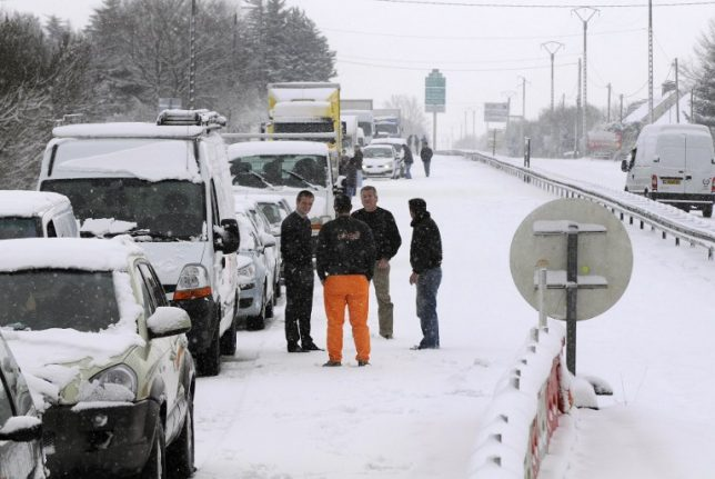 Drivers in France warned of transport chaos with winter storm on the way