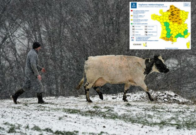 North and central France on alert as more snow arrives