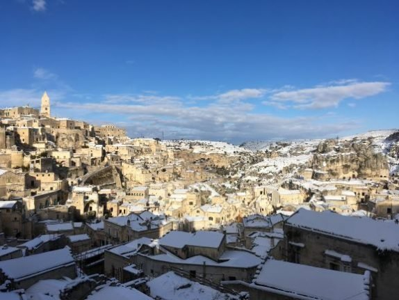 IN PICTURES: Southern Italy's landscapes transformed by snow