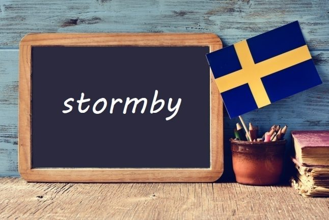 Swedish word of the day: stormby