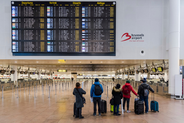 All flights from Sweden to Brussels are cancelled today