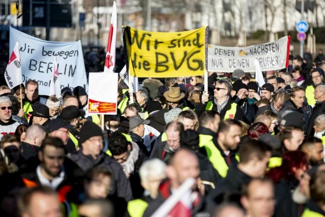 IN PICTURES: Berlin public transport strike ends but more disruption expected