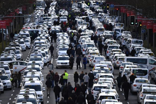 Madrid taxi strike called off… for now