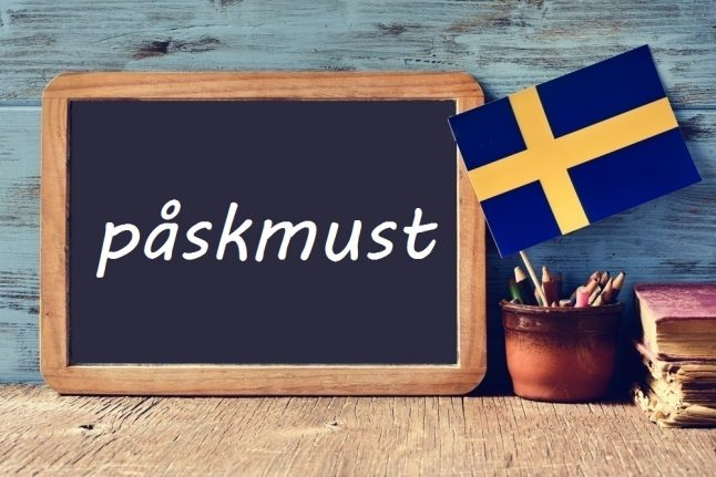 Swedish word of the day: påskmust