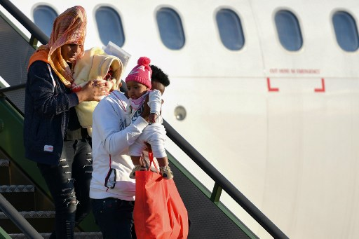 Italy accepts 147 refugees flown in from Libya