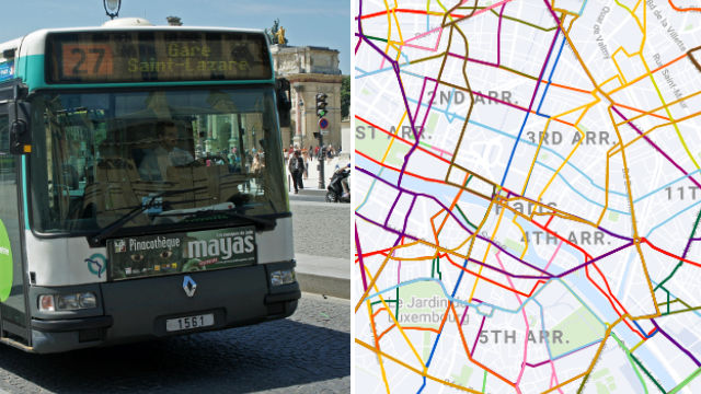 MAP: See the new Paris bus network
