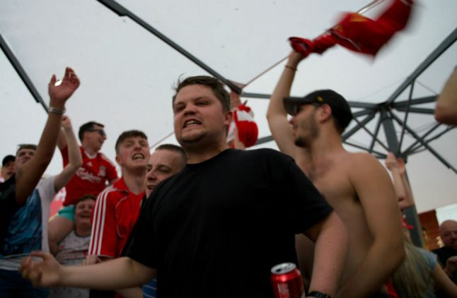 Fans descend on Madrid for massive football party