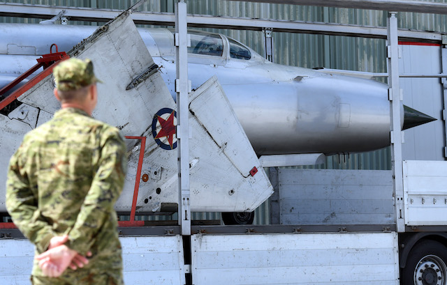 Austria hands iconic fighter jet back to Croatia