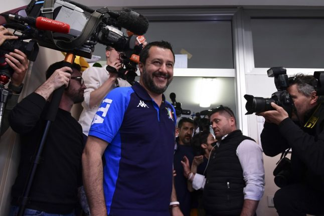 Italy's League come out on top in EU election, exit polls show