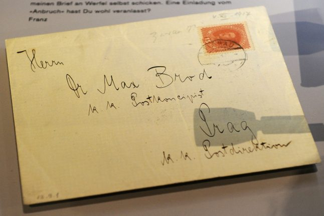 Germany to return stolen papers of Kafka's friend Max Brod to Israel