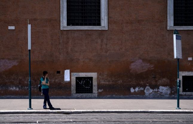 Why is Rome's public transport on strike?
