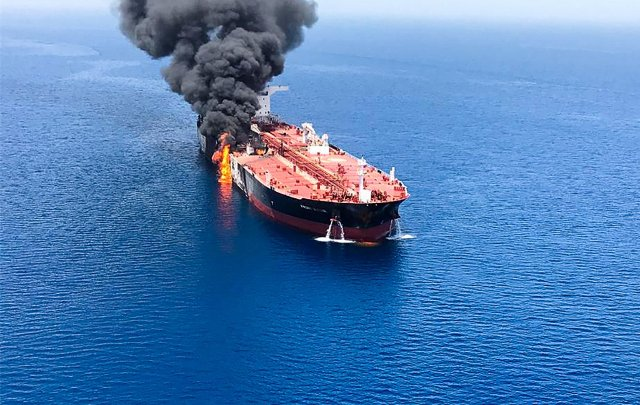 Norwegian oil tanker crew 'all safe' after three explosions reported on board
