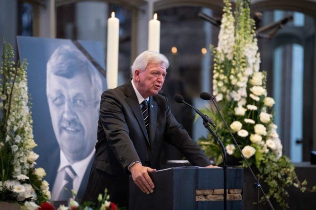 Mourners gather in Hesse for funeral of murdered CDU politician