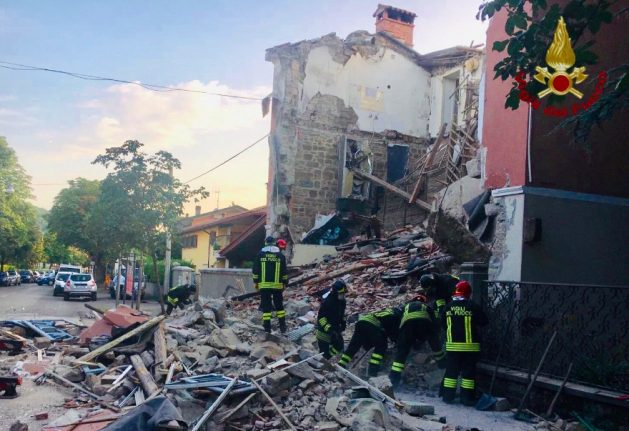 Three dead after building collapses in northern Italy