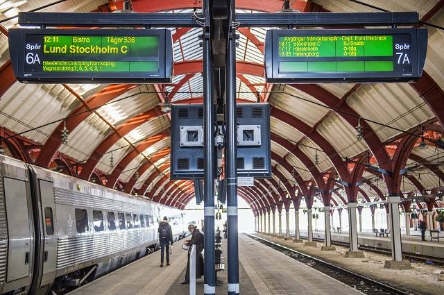 Two men held after 'suspicious object' found on Malmö train
